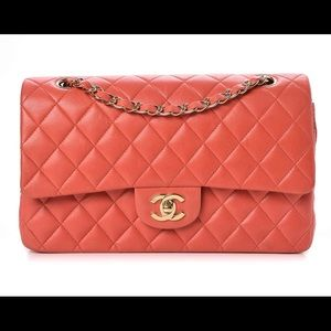 528be580ef5a CHANEL · Chanel lambskin quilted medium double flap